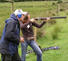 Clay shooting at Quadmania